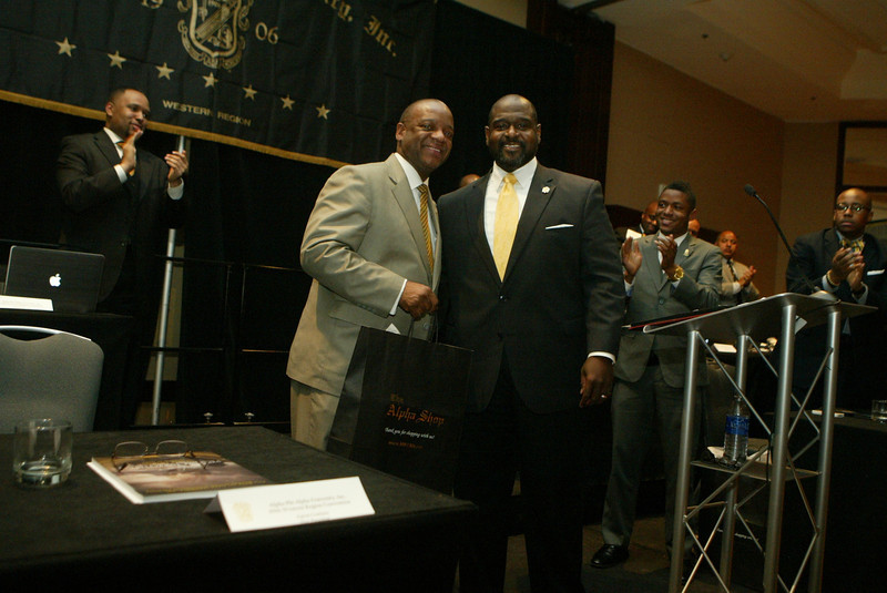 General President Mark S. Tillman and Past Interim President Aaron Crutison Sr.