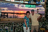 Enjoying a Beautiful Cedar Key Sunset while hanging out in the Hideaway Tiki Bar - Photo by Pat Bonish