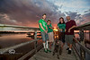 Brian & Maria with Jeanette & Dennis on St  Patty's Day on the Dock at the Low-Key Hideaway - Photo by Pat Bonish