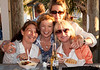 Tanya, Luz, Susan and Lezlie hanging out at the Hideaway Tiki Bar for the Full Moon Party