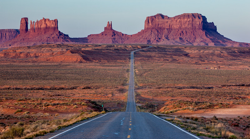 """Highway 163 Entering Monument Valley"""