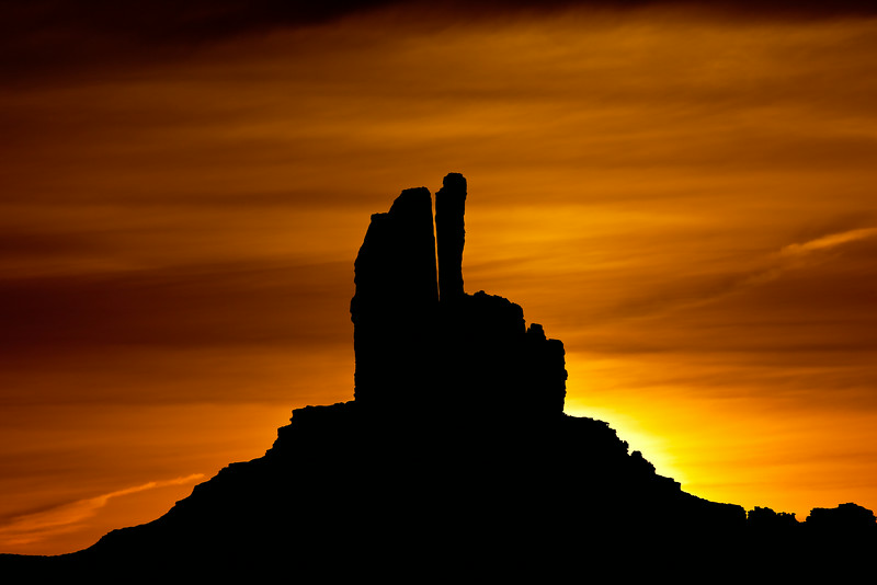 """Dawn Behind Rabbit Butte"""