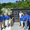 (Fort Benning, Ga) Members of the 173rd Airborne Brigade's Memorial Foundation and Association add Medal of Honor recipients, Sgt. Kyle White and Staff Sgt. Ryan Pitts name's to their memorial, Saturday, June 13, 2015 at the National Infantry Museum's Walk of Honor.