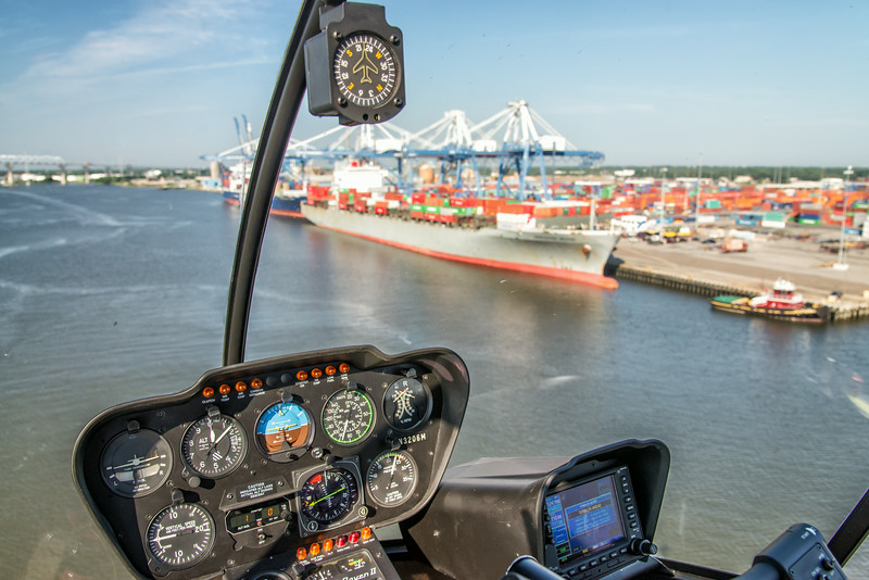 View of Charleston Port and R44 Instrumentation