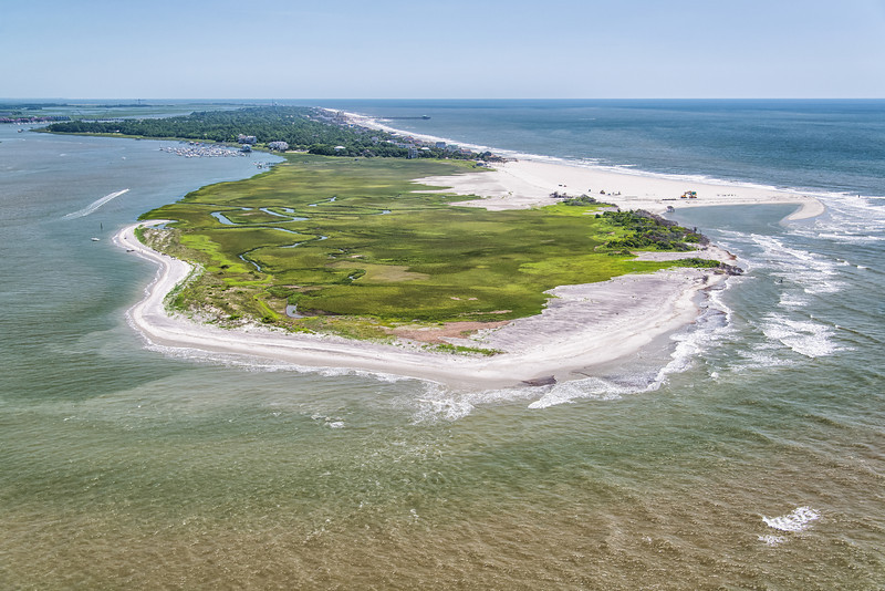 West end of Folly Island, Folly Beach County Park