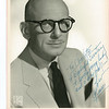Lev Gleason Head Shot Inscribed to Charlotte Kaplan-Kant c. 1950/51