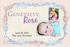 brith annonucement genevieve rose