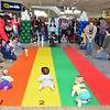 Families cheer on their babies during the Diaper Derby, which was held at the Pheasant Lane Mall on Saturday morning in Nashua, N.H. (SUN/Ashley Green)