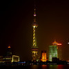 Shanghai at night along the Bund...