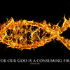 Jesus fish symbol on fire