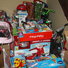 Just a few of the many gifts for children in foster care. Over 1000 gifts have already been transported to DFCS.
