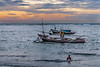 Fishing boats at sunset, Bengkulu, Southwest Sumatra
