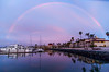 Rainbow above the Marina