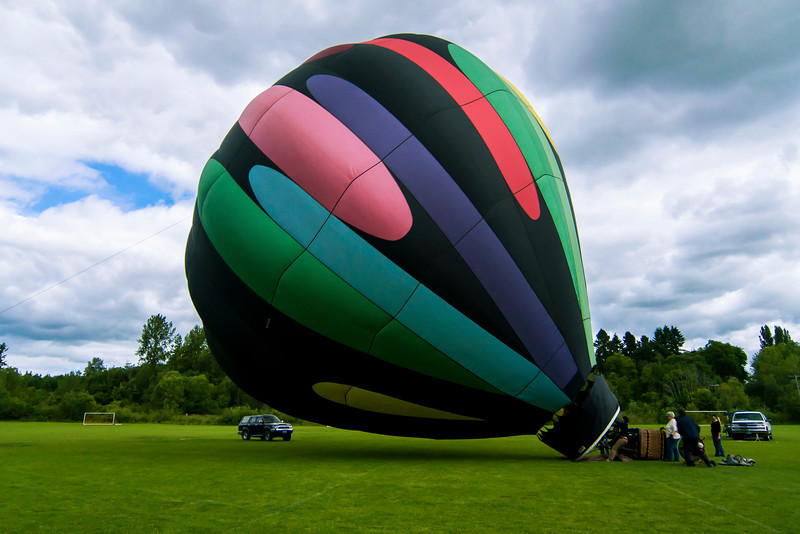 Hot Air Balloon Set Up