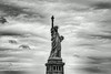 New York Statue of Liberty black and white
