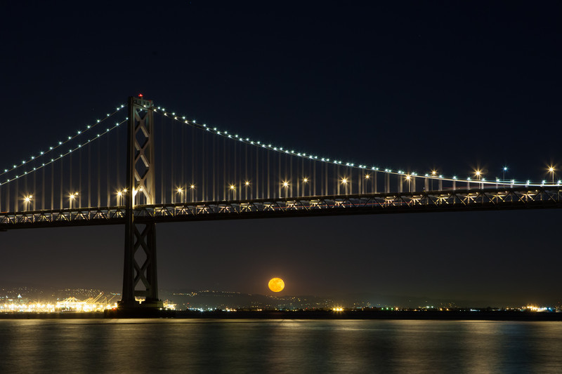 Bay Bridge Moon Rise