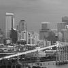 Panorama of Seattle Skyline on cloudy day