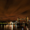 Tower Bridge on a cloudy night
