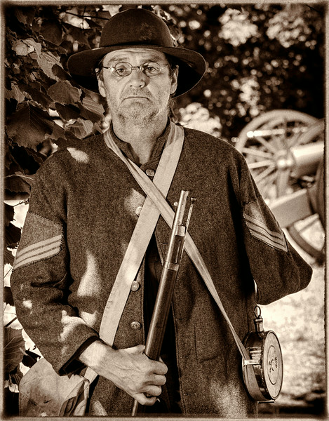 Jay Axtell, confederate colorguard sergeant. twinbulls21@comcast.net. Northwest Civil War Council, Willamette Mission Event July 2014