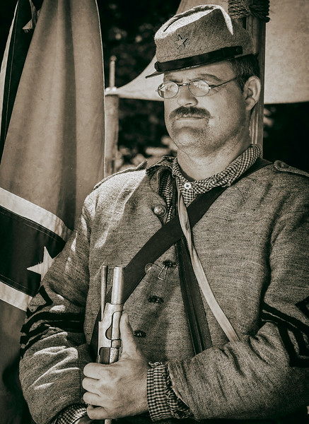 Ryan McGee, Confederate 1st sergeant. Northwest Civil War Council, Willamette Mission Event July 2014