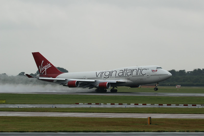 "G-VAST ""Ladybird"" Virgin Atlantic Airways Boeing 747-41R c/n 28757 @ Manchester Airport / EGCC 01.08.14"