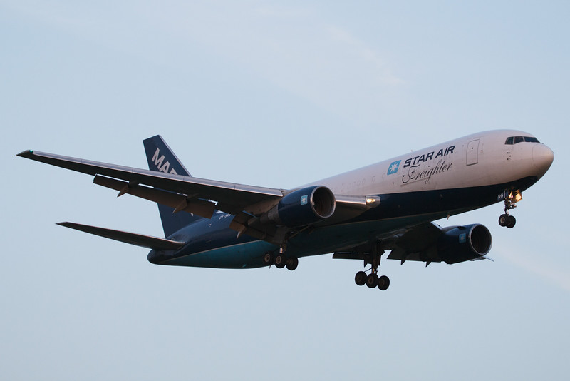 OY-SRG Star Air Boeing 767-219(BDSF) c/n 23328 @ East Midlands Airport / EGNX 30.07.14