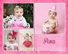 Clark Ava 4 photo pink 8x10 or 5x7