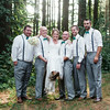 Photos in the Woods at Williams Tree Farm with the Wedding Party