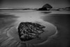 Tidal Pool and Sand Patterns in Monotone - Oregon Coast - Darren Stratemeier - June 2010