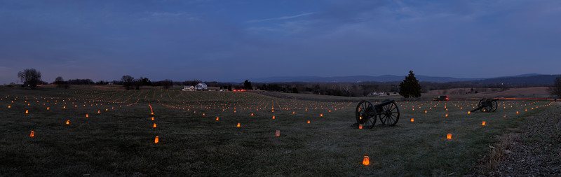 Antietam Memorial Illumination 10s, at f/11 || E.Comp:0 || 50mm || WB: SUNNY 0. || ISO: 200 || Tone:  || Sharp:  || Camera: NIKON D700on: 2014:12:13 17:19:38