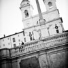 Rome, Italy: Wedding Portraits on the Spanish Steps.