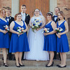 First Look, Bridal Party and Family portraits at Redeemer Lutheran Church and Pariarie St. Brewhouse in Rockford, IL. Wedding photographer – Ryan Davis Photography – Rockford, Illinois.