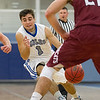 John Gallego, of Colby College, in a NCAA Division III basketball game against Bates College on December 5, 2013 in Waterville, ME. (Dustin Satloff/Colby College Athletics)