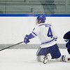 Alex Walsh, of Colby College, in a NCAA Division III hockey game against Connecticut College on December 7, 2013 in Waterville, ME. (Dustin Satloff/Colby College Athletics)