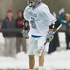 Colby College midfielder, Alex Rutan, during the second half of a NCAA Division III men's lacrosse game against at Hamilton College on March 8, 2014 in Waterville, ME. (Dustin Satloff/Colby Athletics)