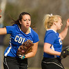 Tori Sansone, of Colby College, during a NCAA Division III women's softball game against at Colby College on April 25, 2014 in Waterville, ME. (Dustin Satloff/Colby Athletics)