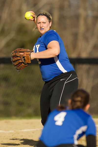 Brianne Wheeler of Colby College, during a NCAA Division III women's softball game against at Colby College on April 25, 2014 in Waterville, ME. (Dustin Satloff/Colby Athletics)