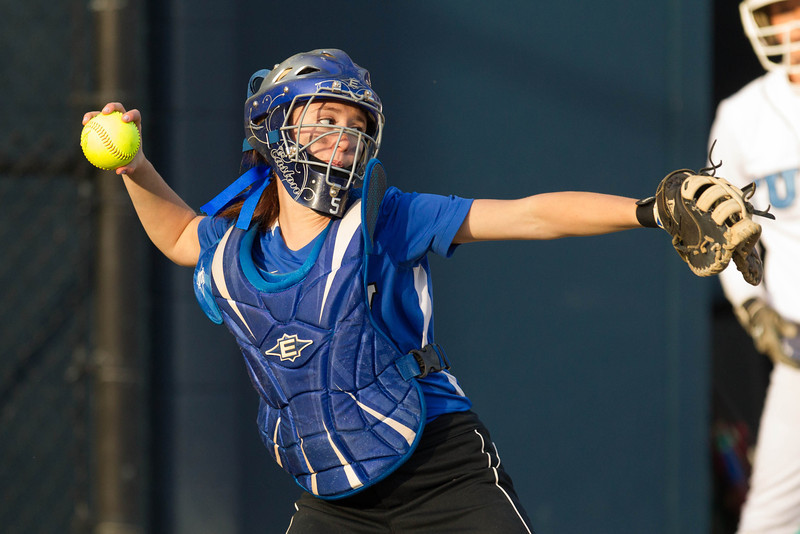 Erica Pulford, of Colby College, during a NCAA Division III women's softball game against at Colby College on April 25, 2014 in Waterville, ME. (Dustin Satloff/Colby Athletics)