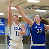 Kate Parsons, of Colby College, during an NCAA Division III college basketball game against St. Joseph's at The Whitmore-Mitchell at Wadsworth Gymnasium, Thursday Dec. 5, 2013 in Waterville, ME.  (Dustin Satloff/Colby College Athletics)