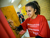 2013 National Day of Service, students working in the community.  Little Falls School #1