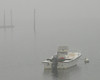 Lonely Boat in May Fog