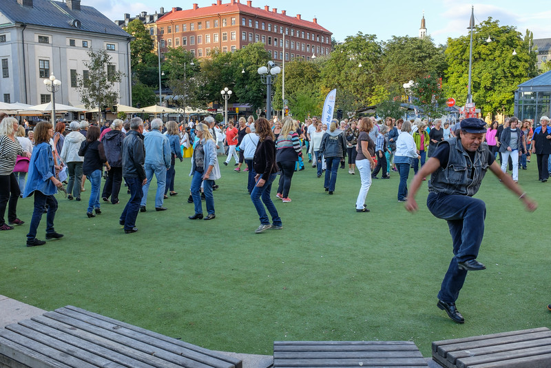 Dancing at Medborgarplatsen, Stockholm, 21 August 2014