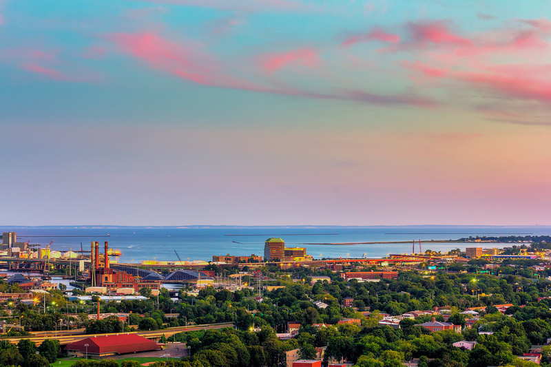 View of New Haven, Connecticut, USA.
