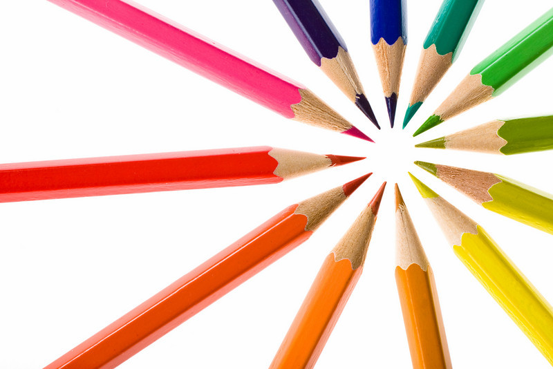 rainbow colored crayons aim to target