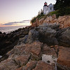 Sunset at Bass Harbor Head Lighthouse, Acadia National Park, Maine