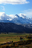 Mount Sneffels towers over the RL Ranch, Dallas Divide, Colorado San Juan Range