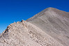 Hikers make their way up the south ridge, the final approach to Mount Antero's summit; Colorado Sawatch Range.