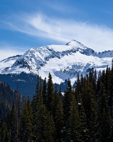 Hazelton Mountain, part of the Kendall Mountain Complex of the San Juan Mountains. Taken outside Silverton, Colorado, USA.