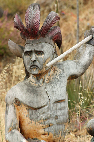 Wood Carved Warrior