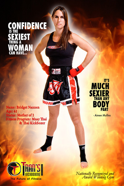 One in series of posters for Tran's Kickboxing<br>http://trans-mafc.com/